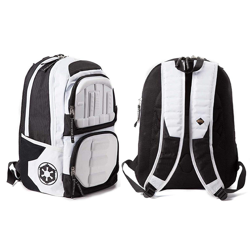 Star Wars Backpack Bag Stormtrooper 3d Molded Official White Storm Trooper Backpack