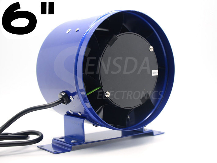 6 Inline EC Duct Fan w/ Speed Controller - Exhaust Blower Six Inch powerful 300CFM