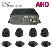 Camion bus auto allenatore taxi 4ch dvr mobile dell'automobile registratore SD DVR registratore dell'automobile dvr 4 canali dvr kit
