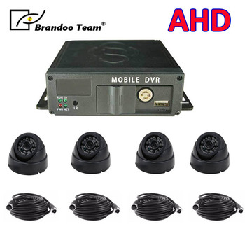 Truck bus coach car taxi 4ch car mobile dvr recorder SD DVR recorder car dvr 4 channel car dvr kit