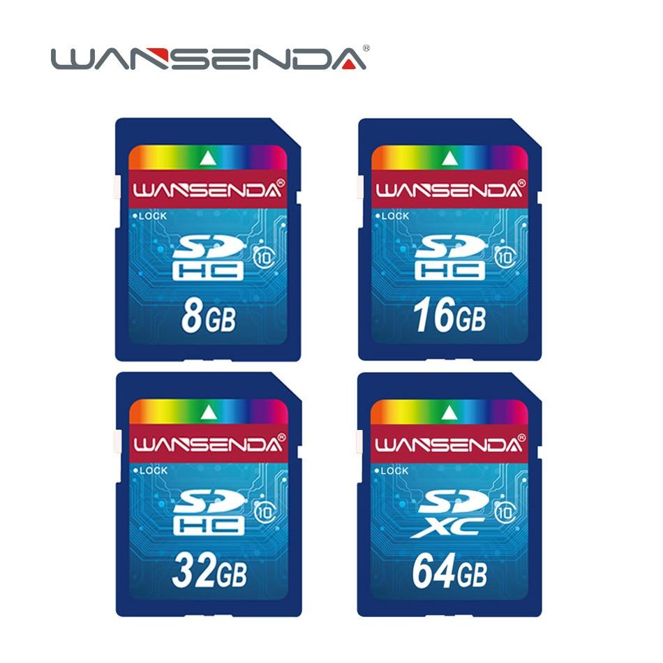 Hot Sale Wansenda Full Size SD Card 64GB 32GB 16GB SDHC Card SD Card Flash Memory Card 8GB 4GB Universal For Digital Camera