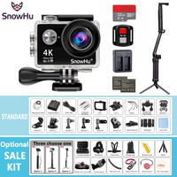 SnowHu Action Camera H10R Ultra HD 4K 25fps WiFi 2 0 170D Underwater Waterproof Helmet Cam