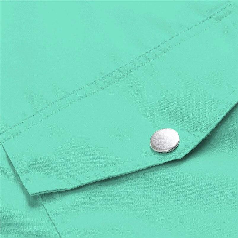 Rain Coat Women Plus Size Coat 2018 Long Sleeve Waterproof Jacket Hooded Raincoat Jacket Women Clothes Warm Coat Girl #O11 (46)