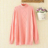 Plus size Criss Cross knitted women pullovers sweater 2018 NEW casual ladies Elasticity Turtleneck loose oversize sweater female