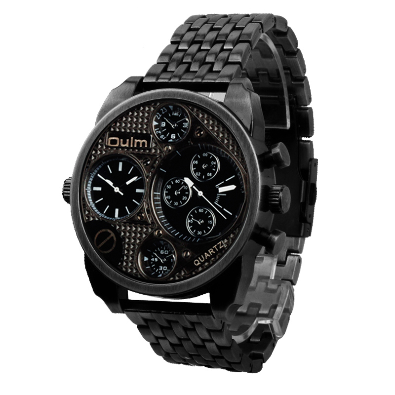 Relojes Hombre 2017 Vogue Dual Time Casual Oulm 9316 Relogio Sports Wat