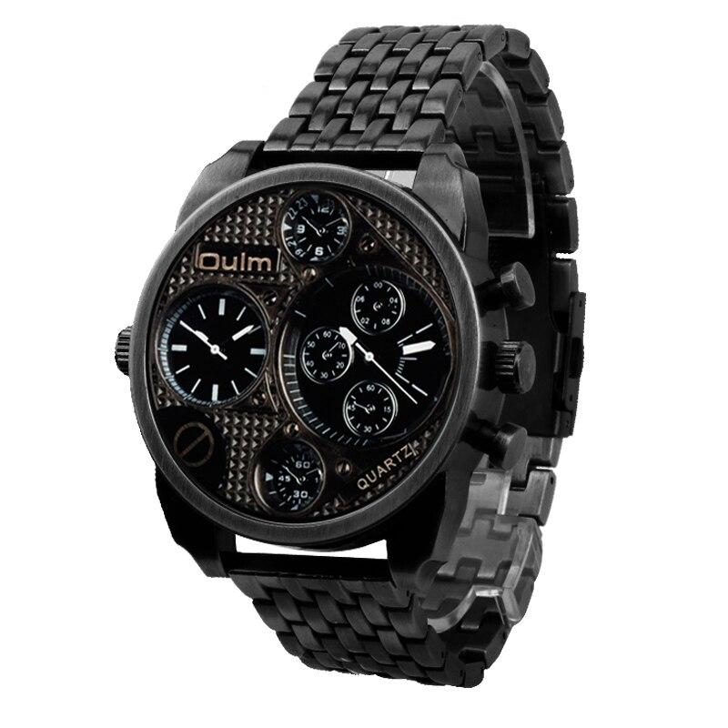 Relojes Hombre 2017 Vogue Dual Time Casual Oulm 9316 Relogio Orologio Sportivo Da Uomo Esercito Militare Vestito Regalo Quarzo Orologi Da Polso