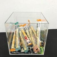 Clear Cube Acrylic Candy Box Transparent Wedding Favors Storage Bin Plexiglass Gifts Wedding Decoration Box Event Party Supplies