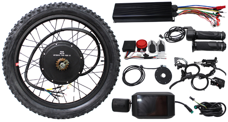 RisunMotor EBike Conversion Kit 48/60/72V 3000W Rear Brushless Motor Wheel 24 26 100A Controller LCD Brake Electric Bicycle eunorau 48v500w electric bicycle rear cassette hub motor 20 26 28 rim wheel ebike motor conversion kit