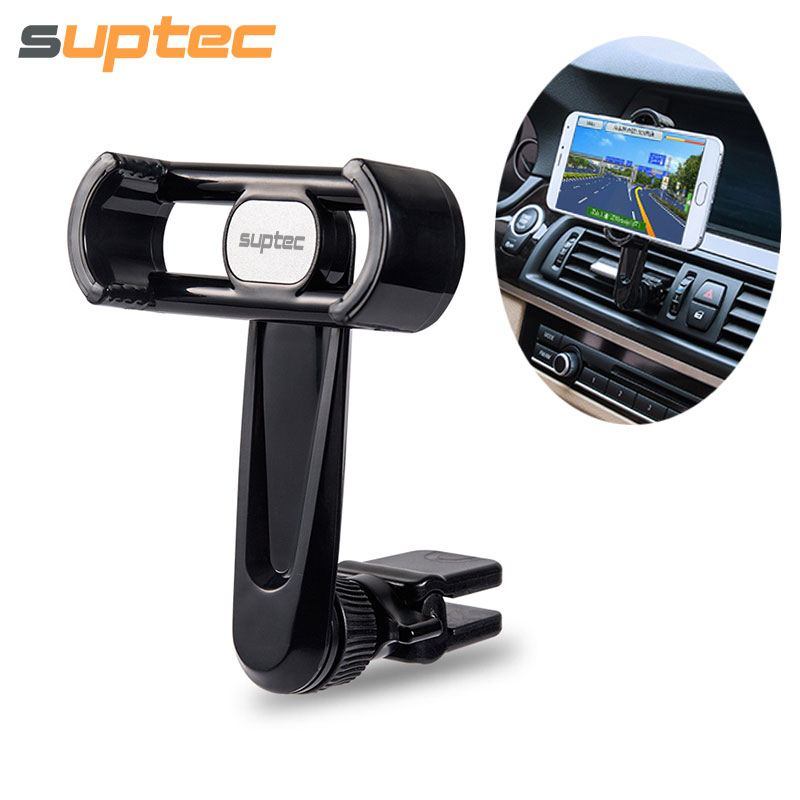 SUPTECカーフォンホルダーfor iPhone X 5 5S 6 6s 7 8 plus Xiaomi Samsung Note Air Vent Mount Phone Stand Cradle for GPS Navigation