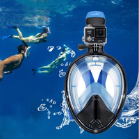 Underwater Diving Mask Full Face Snorkeling Mask Anti Fog Scuba Mask For Gopro Camera 180 Degree