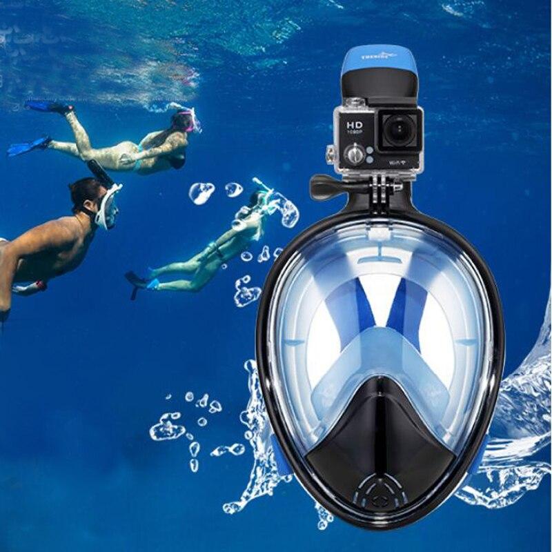 Tauchermaske Snorkel Swim Goggle FullFace Schnorcheln Anti Fog Für GoPro Neu DE