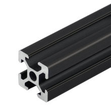 1PC BLACK 2020 European Standard Anodized Aluminum Profile Extrusion 100mm - 800mm Length Linear Rail 500mm for CNC 3D Printer
