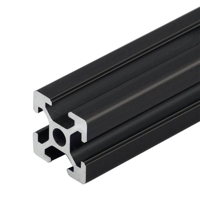 1PC noir 2020 Standard européen en aluminium anodisé profilé Extrusion 100mm-800mm longueur linéaire Rail 500mm pour CNC imprimante 3D