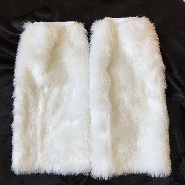 UTMEON-Faux Lông Thỏ Giày Chân Hâm Boot Socks Mùa Đông Sexy của Phụ Nữ Khởi Động Còng