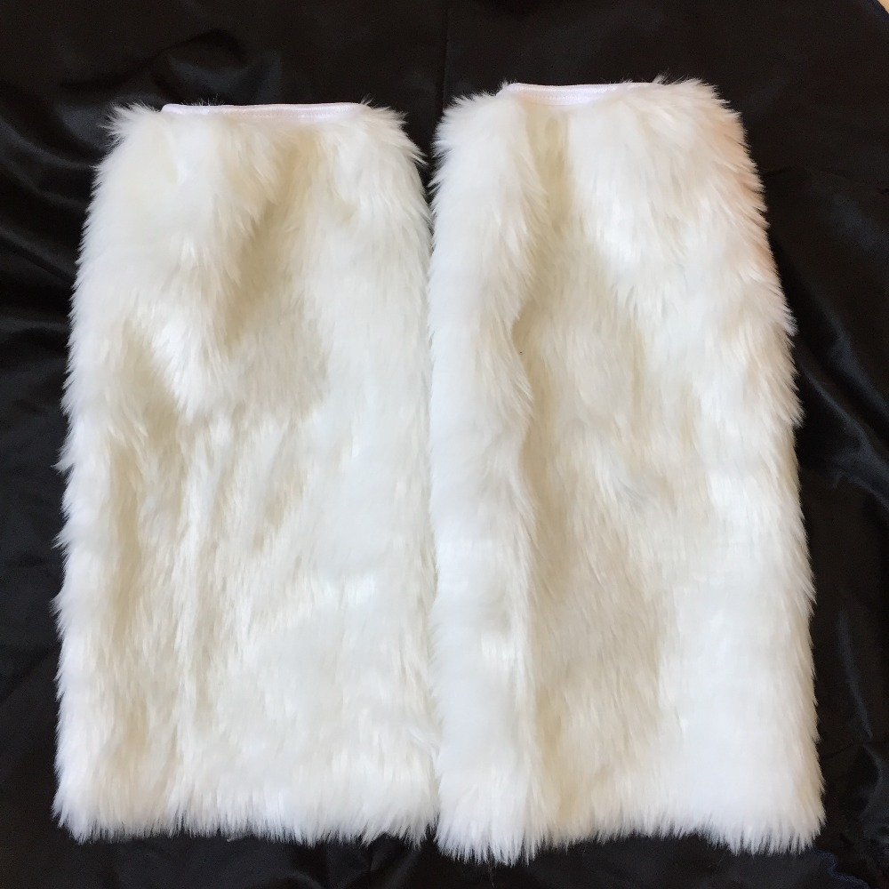 UTMEON- Faux Rabbit Fur Shoes Legs Warmers Boot Socks Winter Sexy Women's Boots Cuffs