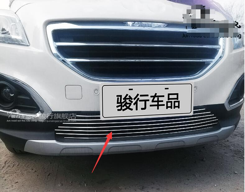 2013-2016 for Peugeot 3008  Quality Stainless steel Car front bumper Mesh Grille Around Trim Racing Grills abs chrome front grille around trim front bumper around trim racing grills trim for 2013 peugeot 3008