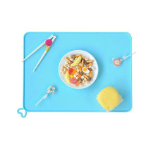 1pcs Silicone Fold And Go Kids Placemat Heat Resistant Non Slip Table Mat Reusable Soft Waterproof