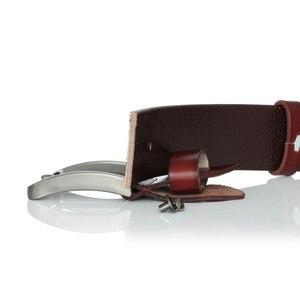 Image 5 - أحزمة للرجال عالية الجودة البقر جلد طبيعي مصمم حزام الذكور الموضة الكلاسيكية Vintage دبوس مشبك حزام Jeans الجينز