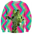 Новый дизайн животных 3D кофты симпатичные жираф Свободные повседневная толстовка harajuku crewneck толстовка Осенью и зимой пуловеры