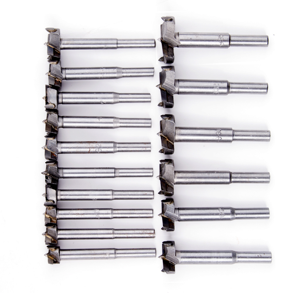 16PC 15-35mm Forstner Auger Drill Bit Set Wood Drilling Woodworking Hinge Hole Saw Window Wooden Cutting Rotary Tool Accessories 38mm 100mm diameter hinge boring bit woodworking silver tone round shank wood drilling forstner carbide tip cutting wood tool