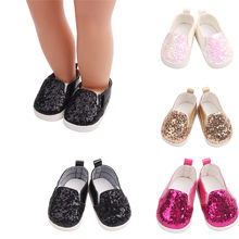 (Ship from US) Glitter Shoes for Dolls Sequins Dress Shoe For 18 Inch Our  Generation American Girl Doll accessories american girl doll clothes 32859abcabe2