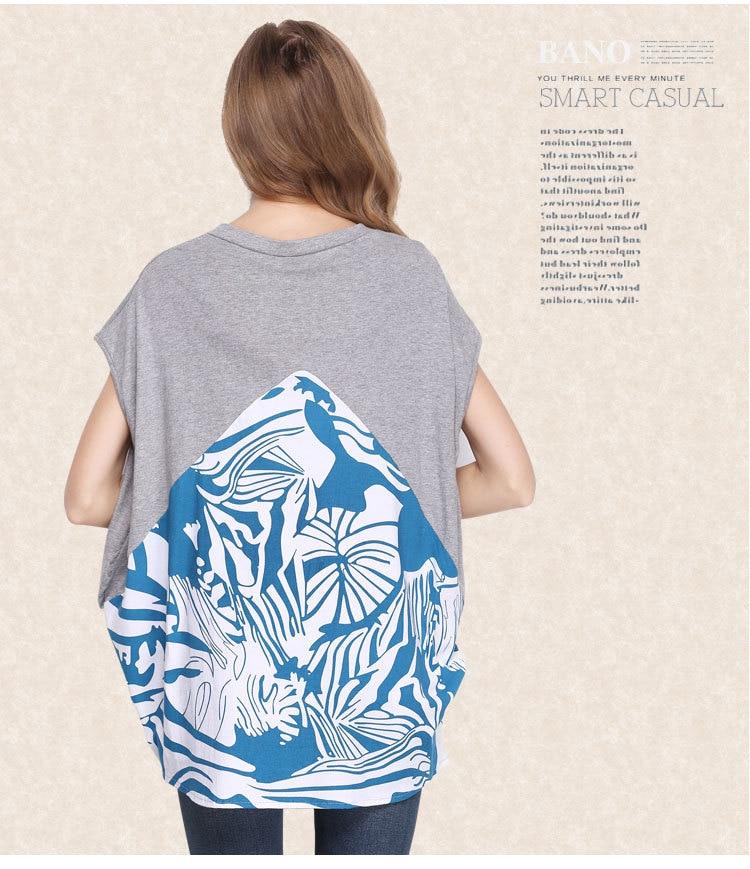 2016 Baru Musim Panas Longgar T Shirt Ukuran Besar Pencetakan wanita - Pakaian Wanita - Foto 3