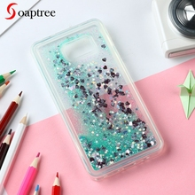 Glitter Liquid Silicone Cases For Case Soft TPU Coque Cover Phone Fundas Covers