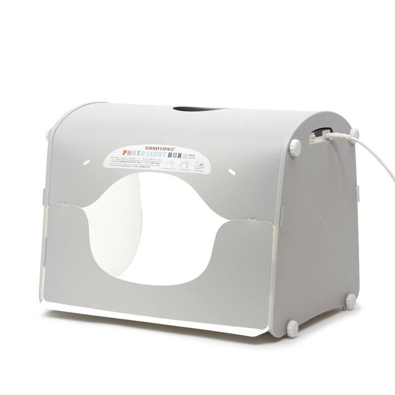 DHL expédition SANOTO softbox photo studio photographie boîte à lumière portable mini photo boîte MK40-LED pour 220/110 V EU US UK AU