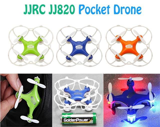 F15728/29/30 JJRC JJ820 Ceia de 2.4G de 6 eixos Giroscópio Mini Helicóptero DO RC 4*4 cm Bolso Zangão UAV Modo Headless 360 Rolo Led Light FS