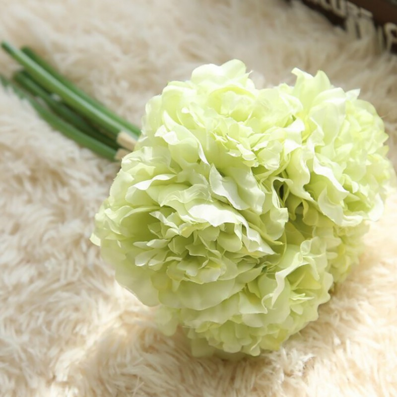 1 Pcs/set Hand holding Peony flowers Artificial flower Wedding Church Office Furniture Home Decoration Accessories flores