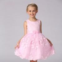 Pretty Peach Flower Girl Dresses Summer 2016 Girls Wedding Dresses Kids Princess Dress Girl Age 2