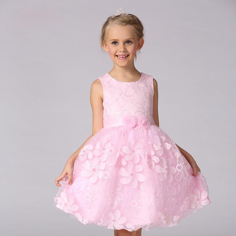 Pretty peach flower girl dresses summer 2016 girls wedding for Wedding dress for kid girl