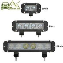 XuanBa 4D Lens 11 Inch 60W Led Work Light Bar per moto Atv Suv Truck 12V Driving Lamp 24V Spot Combo 40 4x4 Off Road Bar