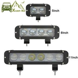 Image 1 - XuanBa 4D Objektiv 11 Inch 60W Led Arbeit Licht Bar Für Motorrad Atv Suv Lkw 12V Fahren Lampe 24V Spot Combo 40 4x4 Off Road Bar