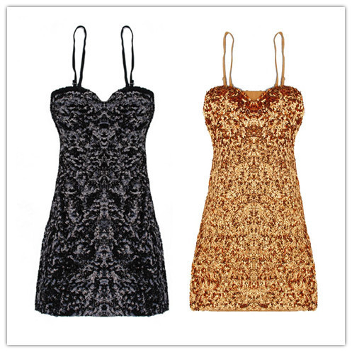Sexy DS Night Club Sequins Dress Stage Dancing Clothing Sequined Bag Hip Mini Dress free shipping retail&wholesale