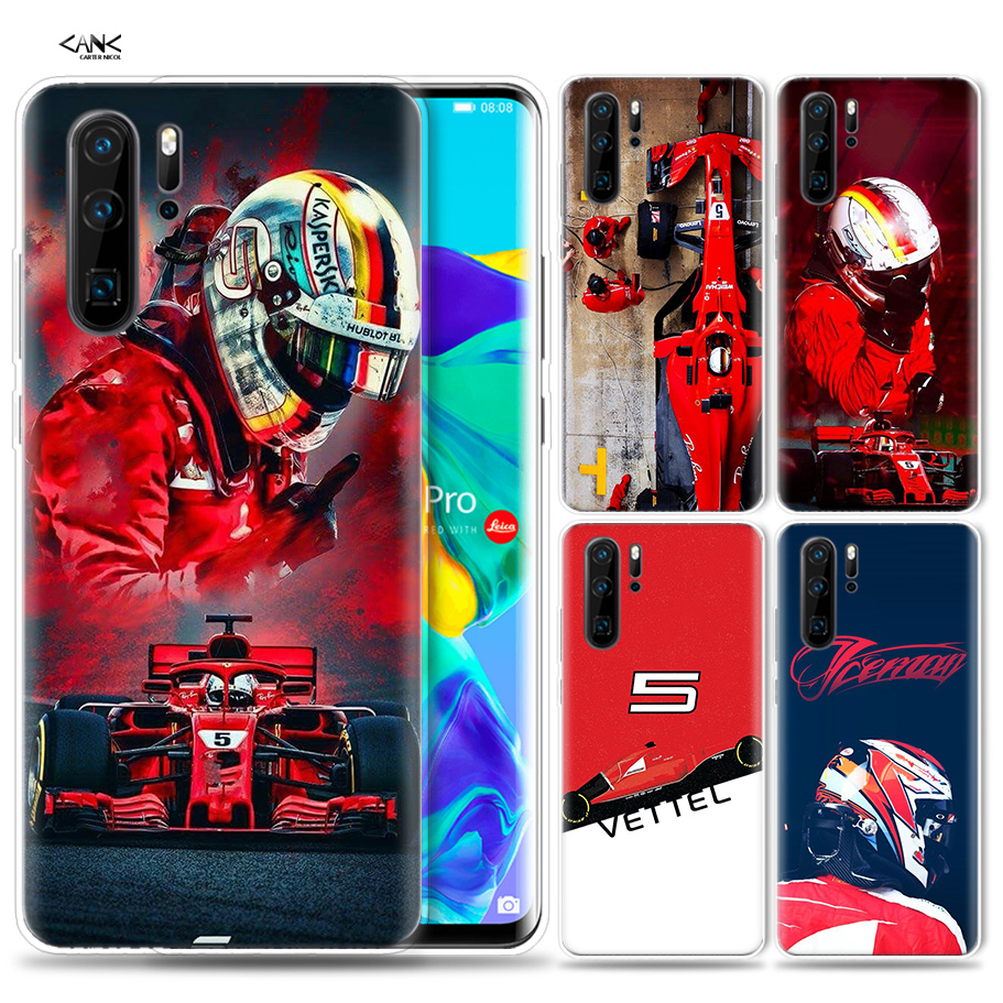 Case For Huawei P30 P20 P10 P9 Mate 10 20 Lite Pro Mobile Cell Phone Bag P Smart Z 2019 Plus Sebastian Vettel P8 P30Pro P20lite