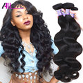 7A Grade Indian Virgin Hair Body Wave 3 Bundles Allove Hair Products Indian Body Wave Unprocessed Human Hair Weave Extensions