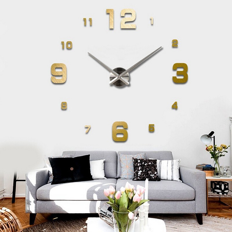 2016 Special Large Diy Quartz 3d Wall Clock Living Room Big Acrylic Watch  Mirror Stickers Modern Part 86