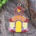 Free shipping 10pcs/lot silver Zinc alloy Christmas Gingerbread house rhinestone Pendants for Jewelry Necklace making (As shown)
