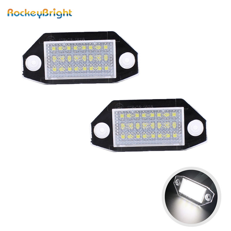 24SMD No Error LED Number License Plate Light Lamp For Ford Mondeo MK3 2000-2007