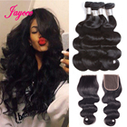 Brazilian Hair Weave Bundles With Closure Brazilian Body Wave Bundles With Closure Non Remy Human Hair Extensions With Closure