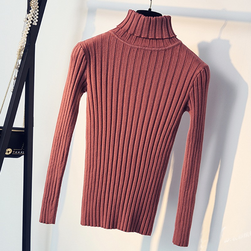 Apricot Soft Sweater For Women Turtleneck Thin Pattern Sweaters And Pullovers Tricot Pull Femme Tops Jersey Jumpers