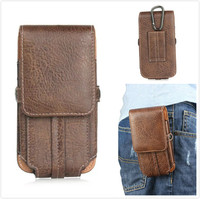 Luxury Stone Pattern Pu Leather Men Waist Bag Clip Belt Pouch Mobile Phone Holster Case For