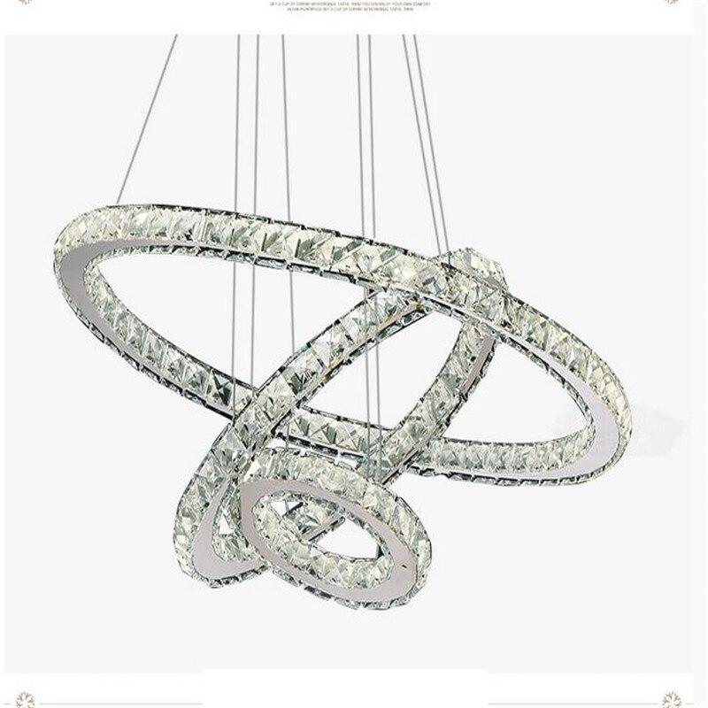 Moderne Ringen Led Kristallen Kroonluchter Opknoping Verlichting Crystal Lustre Hanger Lamparas Plafond Armaturen Armatuur Voor Woonkamer - 4