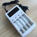 1 unids universal cargador de baterías aa y aaa nimh nicd recargable 4 puertos cargador inteligente cargador de viaje con enchufe de la ue