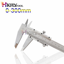 0-300mm Vernier Caliper Steel Vernier Caliper Micrometer Inner Outer Diameter Gauge Pie De Rey Paquimetro Measuring Tools