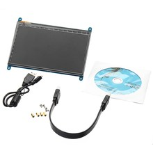 Big discount New 7″ Raspberry pi 3 Capacitive Touch Screen LCD Module IPS 1024×600 Touch Screen DIY Kit HDMI For Raspberry Pi