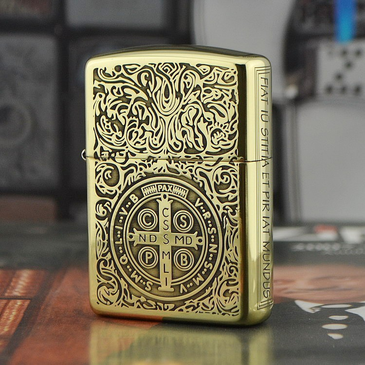 Free Shipping Lighters On Three Sides Of Pure Copper Carved Armor Kang Machine Hell Detective Constantine Oil