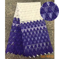 Factory Offer Beautiful Embroidered Beaded Lace High Quality Latest African Guipure Cord Lace Fabric For NIgerian