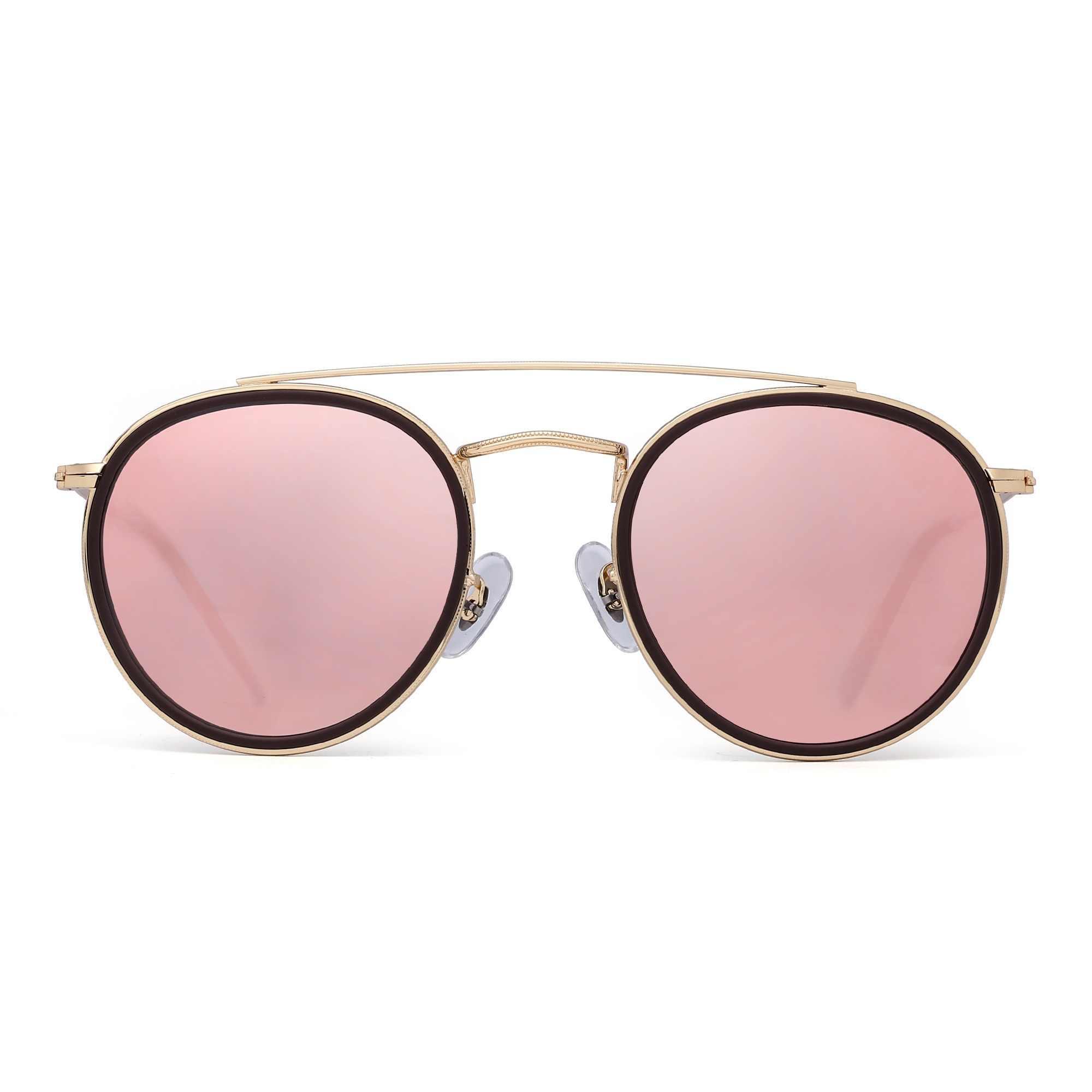 e0892ffb64 Jim Halo Round Polarized Sunglasses Metal Frame Mirrored Flat Circle Lens  Men Women Retro Vintage Oculos